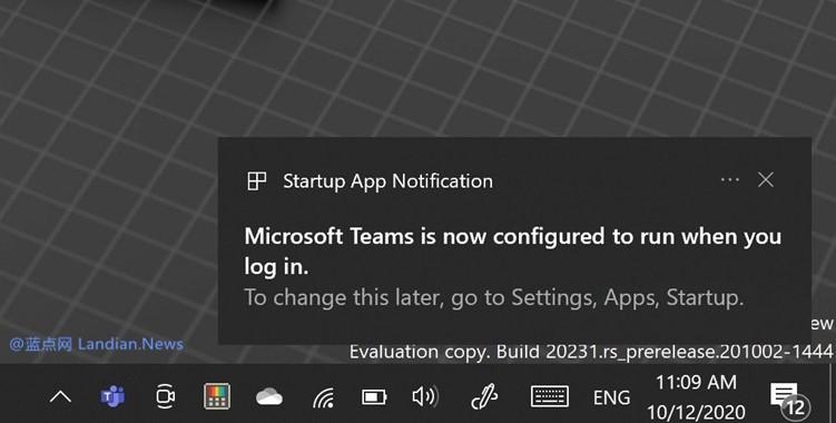微软在Windows 10 Dev版里带来新功能 自启动应用发生提醒避免拖慢系统