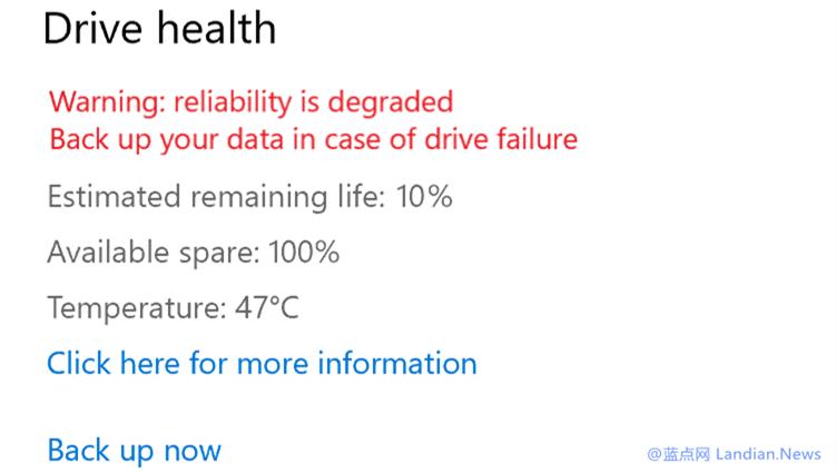 微软推出Windows 10 Dev Build 20226版 带来NVMe SSD健康报警功能