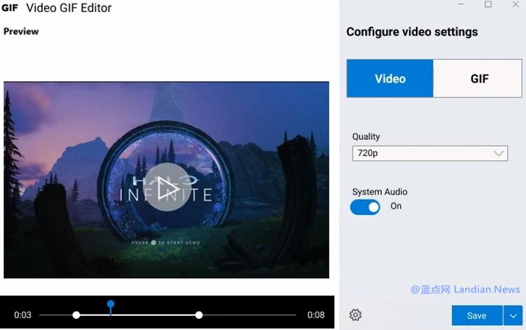 微软正在为Windows 10开发屏幕录制工具 可录制为视频或转储为GIF动态图
