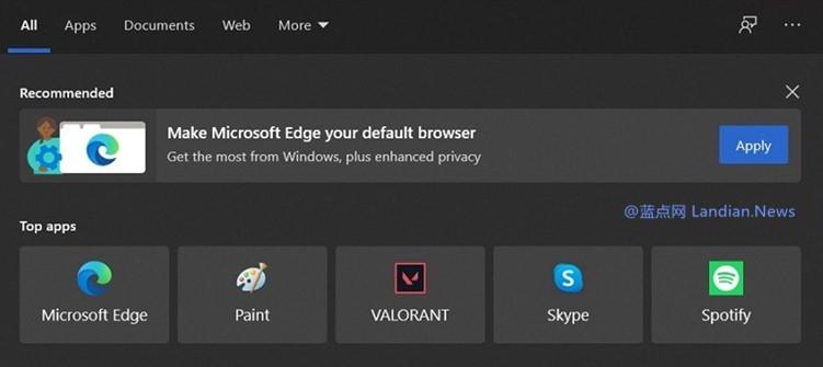强制安装还不够 微软利用多种方式让用户将Microsoft Edge设为默认浏览器
