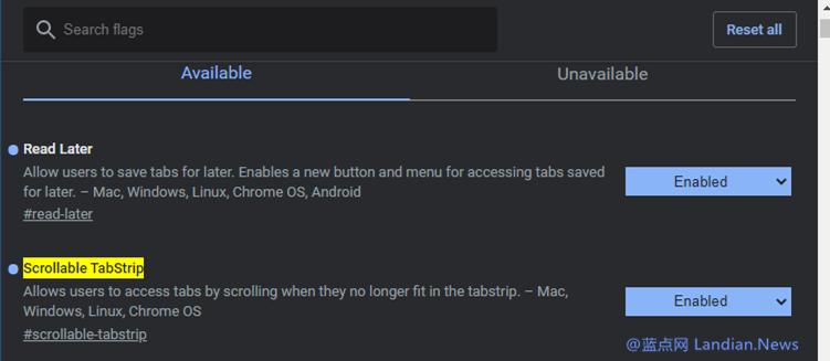 谷歌和微软浏览器带来选项卡鼠标滚动功能 开启N多选项卡时可快速滚动