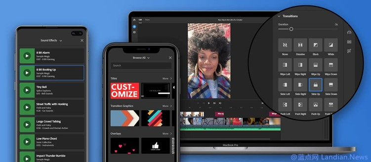 Adobe宣布Adobe Premiere Rush获得重大更新 带来免版权费的多种音频内容