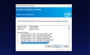 英特尔发布Windows 10 20H2版驱动程序 但仍然不支持硬件加速GPU调度