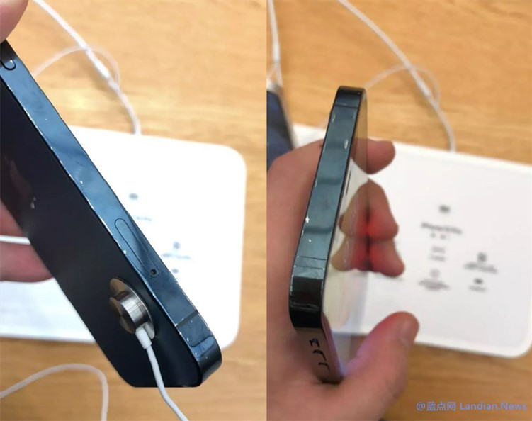 苹果零售店里的iPhone 12和iPhone 12 Pro展示机已经被顾客抚摸到掉漆