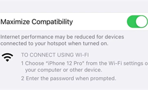 iPhone 12系列热点共享功能已支持5GHz WiFi 用户亦可切换2.4GHz WiFi