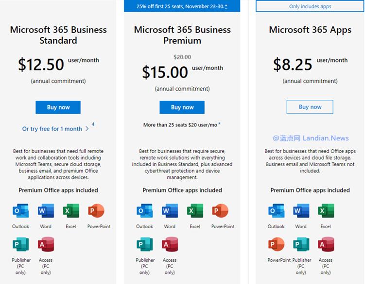 微软为中小型企业提供黑五促销折扣 Microsoft 365商业高级版折扣25%-第1张