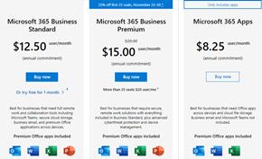 微软为中小型企业提供黑五促销折扣 Microsoft 365商业高级版折扣25%