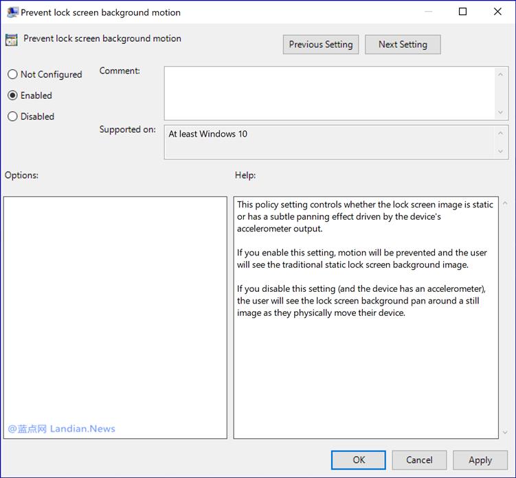 微软可能会为Windows 10提供动态锁屏壁纸 设备倾斜时壁纸也会跟着抖动