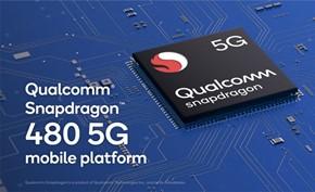 高通宣布推出支持5G网络的性能提高100%的高通骁龙480移动处理器