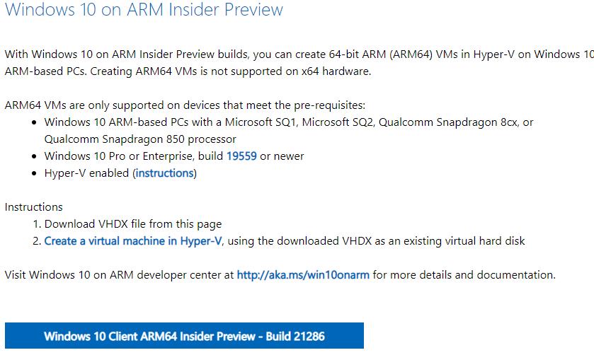 [下载] 微软推出Windows 10 Dev Build 21286版ISO镜像与VHDX镜像-第2张