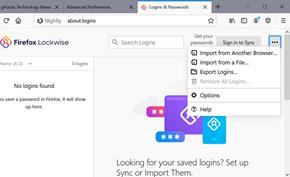 火狐浏览器将支持从其他密码管理器或表单文件里导入账号密码