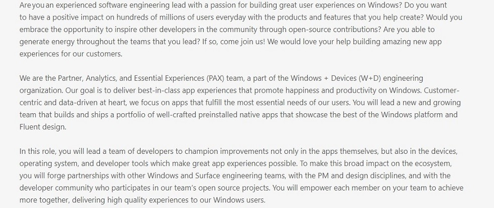 微软苏州园区招募新工程师致力于改进Windows 10系统预装应用体验