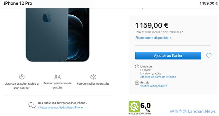 为遵守法国最新的可维修性法规要求 苹果已标注iPhone及Mac的可维修得分