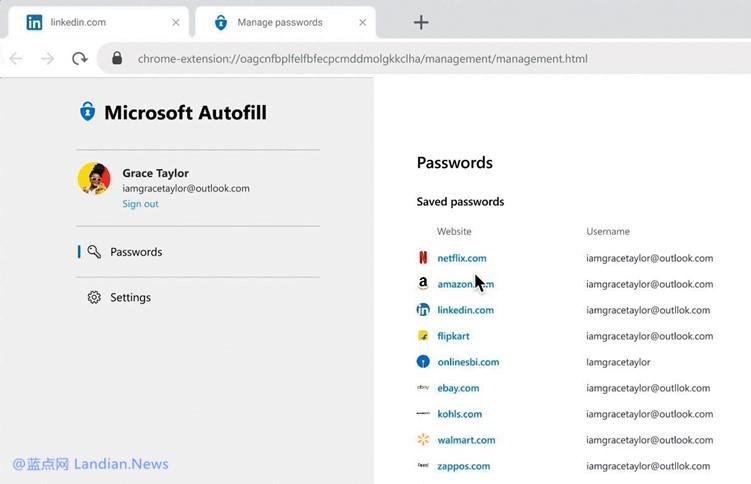 微软宣布正式推出跨平台跨设备的密码自动填充解决方案(即密码管理器)