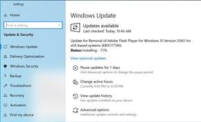 微软决定强制推送安装KB4577586号更新删除系统预装的Adobe Flash Player