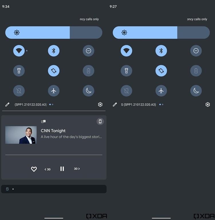谷歌对Android 12通知中心进行调整 这看起来有点像小米的MIUI系统