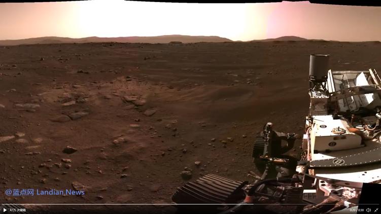 毅力号探测器推出首张火星地表全景图 尘埃散尽后宁静而宏伟