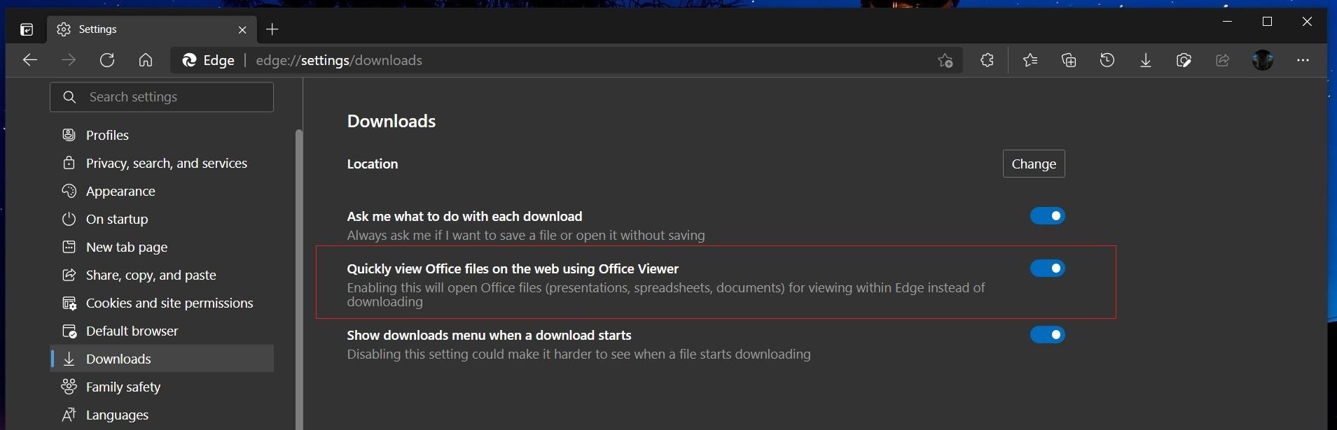 微软改进Microsoft Edge浏览器 现在可以直接加载Office文档无需下载