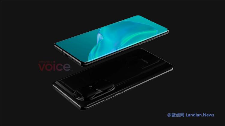 华为即将推出的P50概念图提前泄露 采用玻璃后盖/屏下指纹和超大摄像头