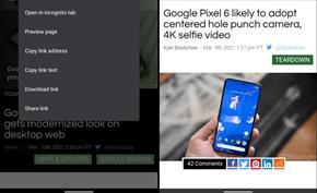 谷歌浏览器安卓版带来链接预览功能 与Safari浏览器提供的效果相同
