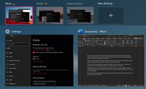 微软在最新开发版中为Windows 10虚拟桌面功能带来更多自定义控制