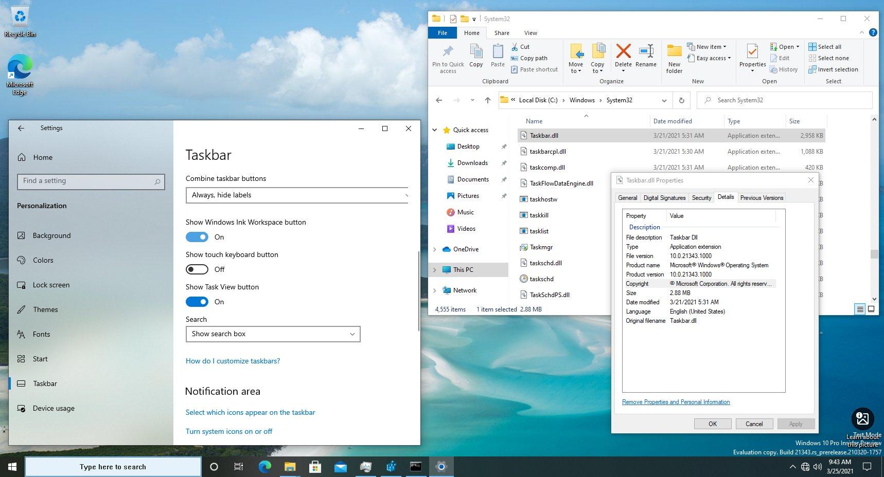 微软正在计划将Windows 10任务栏从资源管理器进程移出变成独立进程