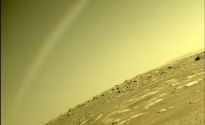 毅力号探测器竟然在火星上拍到彩虹?NASA表示只是镜头反光造成的