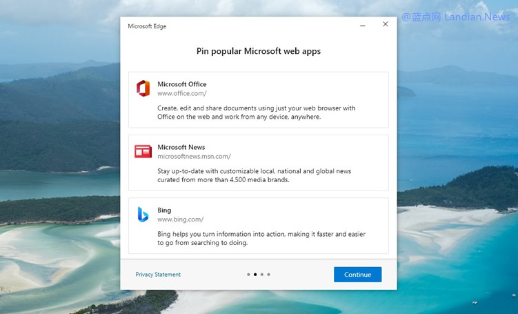 微软开始在Windows 10上弹出更多EDGE广告 诱导用户设置为默认浏览器