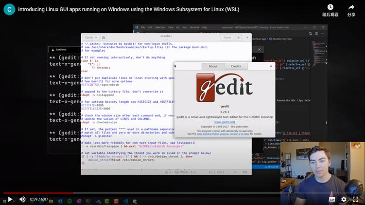 现在你可以通过Windows 10 WSL子系统来运行Linux GUI图形程序喽!