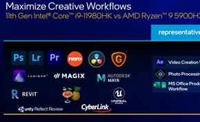 英特尔推出第11代10纳米酷睿H系列处理器 有望为游戏本性能提高19%左右