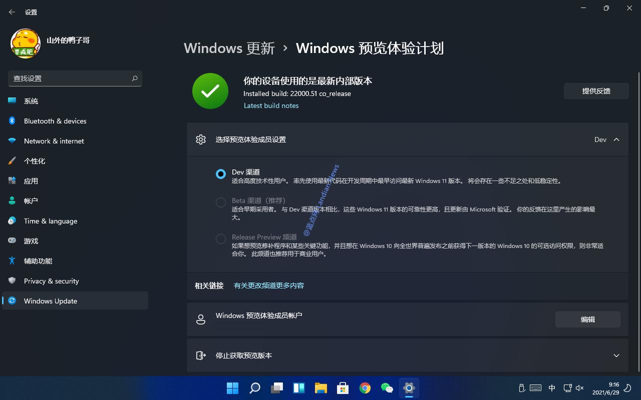 [画廊] 新的设置应用随Windows 11预览版到来 采用层叠式设计更简洁