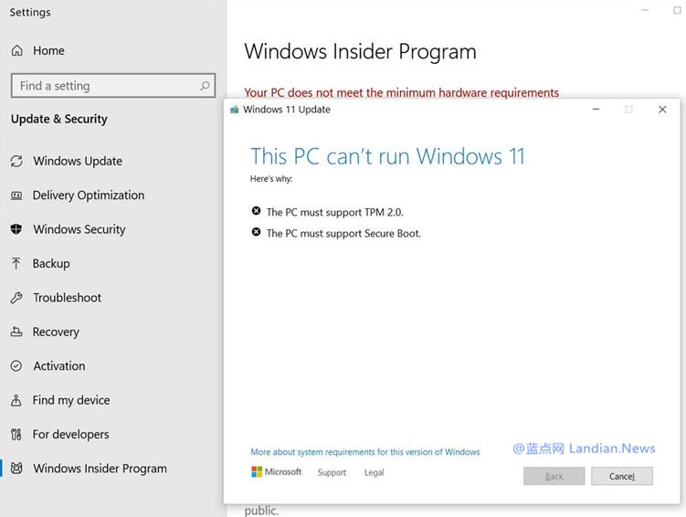 微软发布Windows 11 Dev Build 22000.51版 然后众多测试者报错无法安装