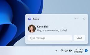 微软开始向Windows 11用户提供Microsoft Teams通讯工具的深度集成
