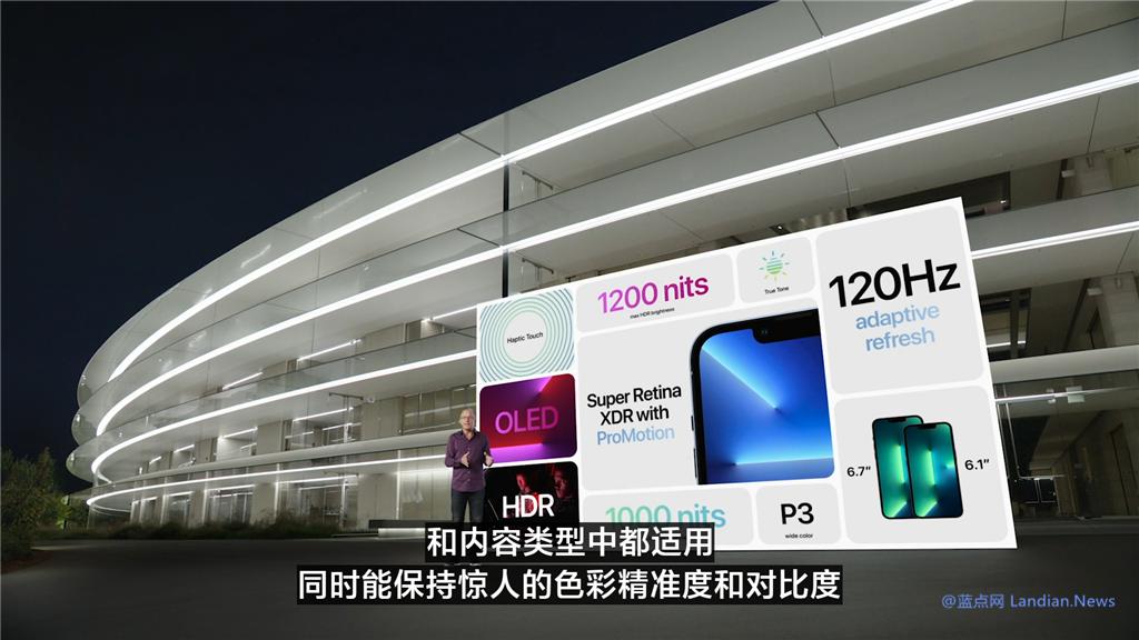 苹果推出iPhone 13 Pro和Pro Max版 120Hz自适应刷新率成最大亮点