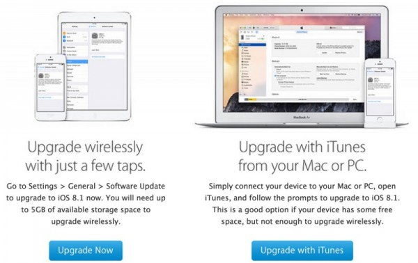 苹果向老版本iOS设备用户发邮件 鼓励尽快更新至iOS 8