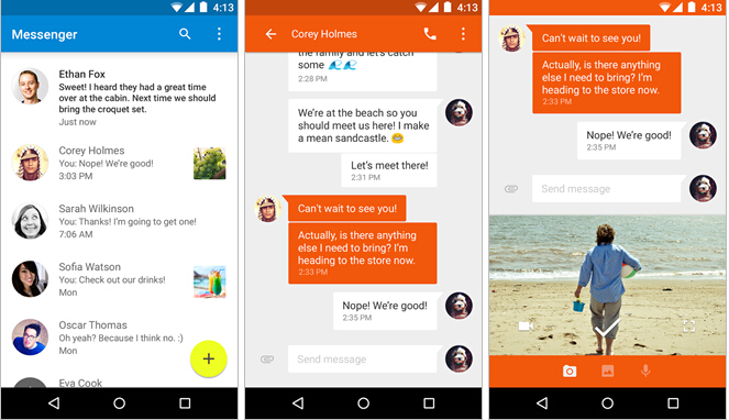 谷歌发布独立的消息应用Messenger 现已上架Google Play