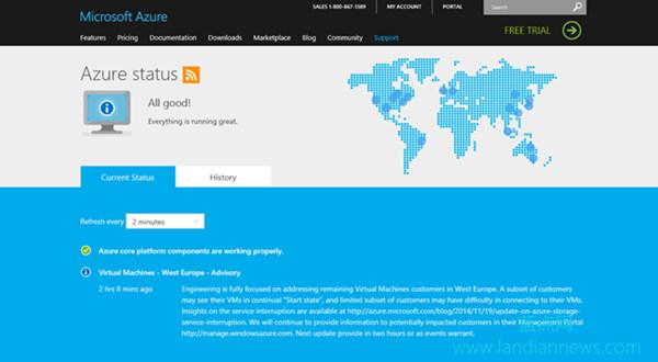 如何查看微软云服务运行状态?