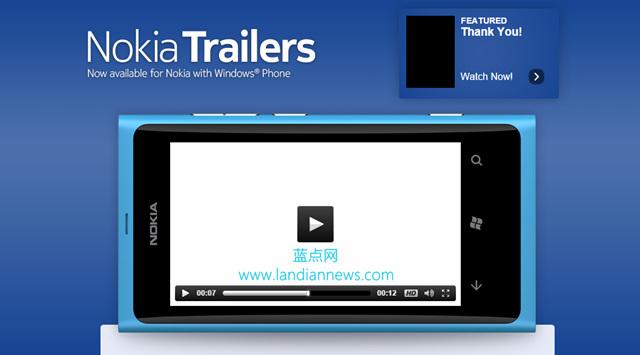 继续去诺基亚:微软移动本月底关闭 Nokia Trailers 应用