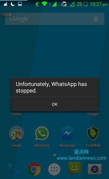 WhatsApp for Android 存安全漏洞:2KB特殊字符就可让其彻底崩溃