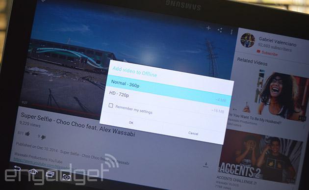 Android 版 YouTube用户可以下载视频进行离线播放