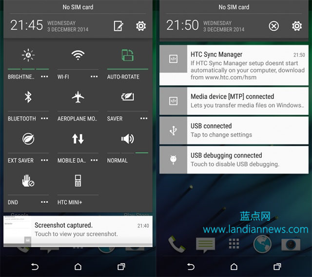 HTC M8运行Android 5.0.1视频曝光 界面上有较明显变化