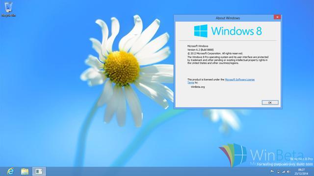 曾经的Windows 8 RTM 候选版本Build 8888 泄露