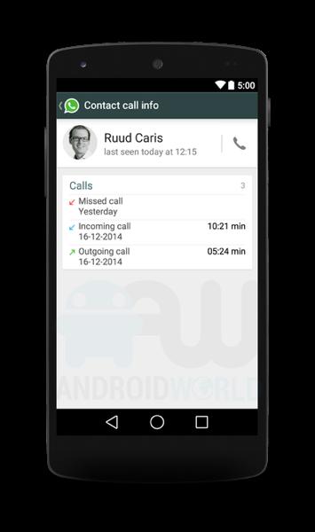 WhatsApp将推语音通话功能 界面曝光