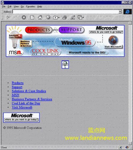 微软Microsoft.com官网20周年纪念,历年改版回顾