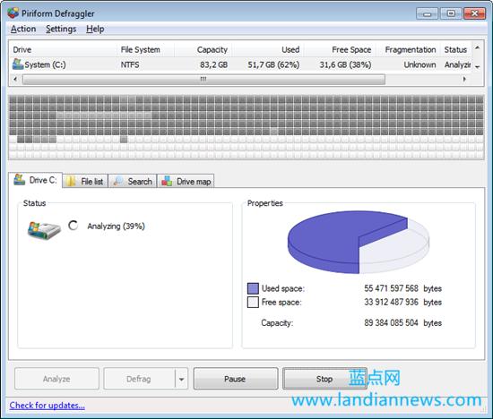 小巧的磁盘整理工具Defraggler 专业版附注册码(非破解)