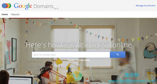 Google旗下域名注册服务Google Domains全面开放