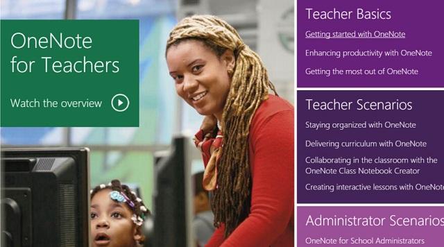 微软上线OneNote For Teachers网站教你如何使用OneNote