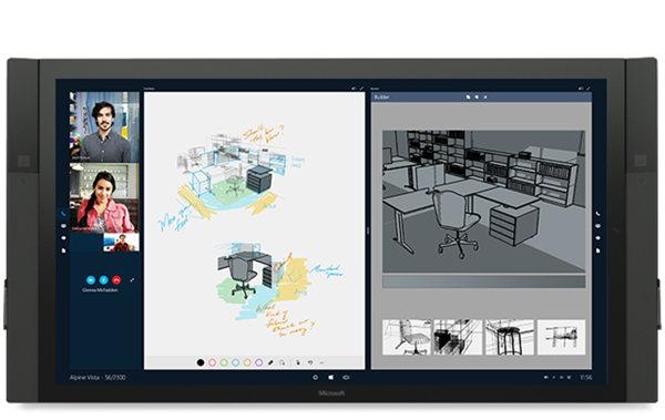 微软宣布新硬件:84 英寸 Windows 10 巨屏设备 Surface Hub