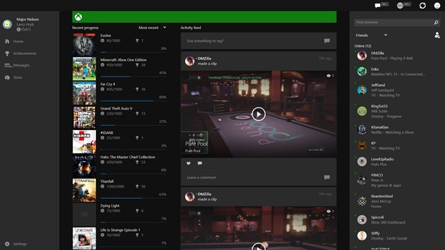 Xbox.com 和 Windows 10 版 Xbox 应用更新